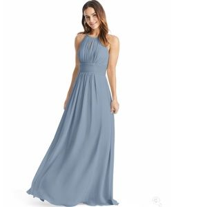 Azazie Dusty Blue Dress